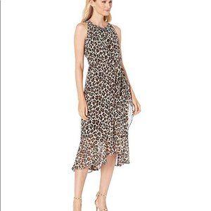 Vince Camuto Leopard Animal Print Midi Dress - 8
